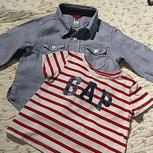 GAP Shirts & Tops - Two little shirts. Both baby GAP 18 - 24 months